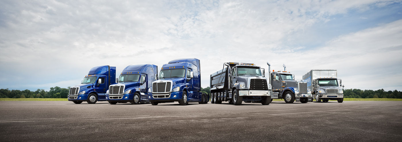 Fleet of Freightliner Vehicles