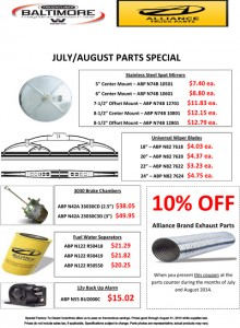 July/August 2014 Alliance Parts Special