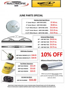 June Alliance Parts Special