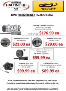June Freightliner HVAC Special