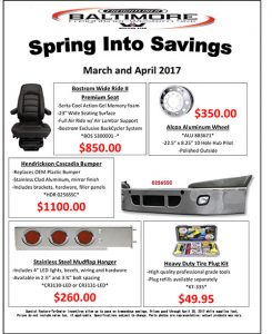March and April 2017 Spring into Savings Flyer