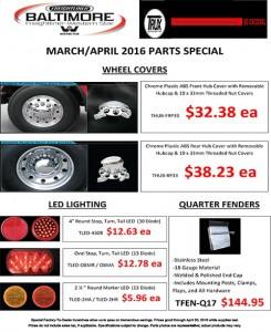 March-April 2016 Trux Parts Special Flyer