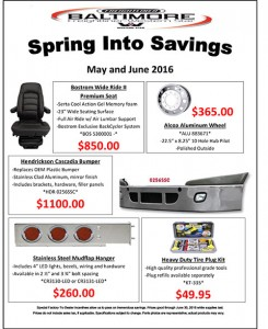 May-June 2016 Spring into Savings Flyer