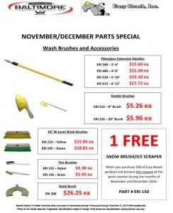 Nov & Dec 2014 Easy Reach, Inc. Parts Special Flyer