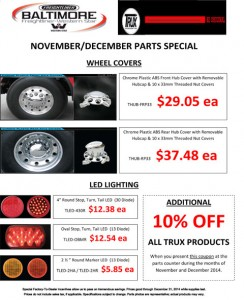 Nov & Dec 2014 Trux Accessories Parts Special Flyer
