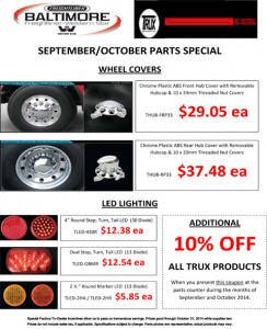 Sept/Oct 2014 Trux Parts Special Flyer