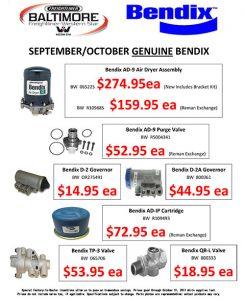 September and October 2017 Genuine Bendix Sales Flyer