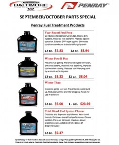 September-October 2015 Penray Fuel Treatment Products Parts Special Flyer