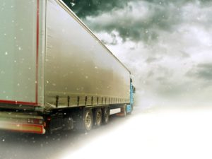 truck driving in bad weather baltimore freighliner